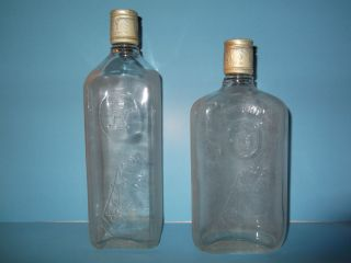 GIN /WHISKEY /WINE /LIQUOR BOTTLE ,OLD/VINTAGE, FROSTED / EMBOSSED