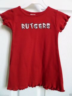 Rutgers Baby Girl Dress by Little King Size 18 MO Red