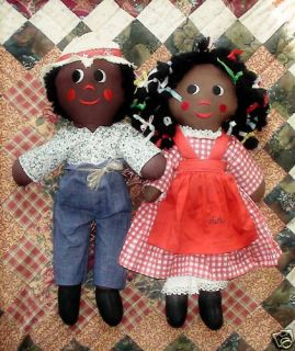 New Orleans Gambina Handmade Cloth Dolls of Color