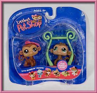 Littlest Pet Shop New Monkey Pair Twins Set Jungle Gym LPS