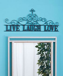 Live Laugh Love Metal Iron Scroll Wall Art Door Hanging Home Decor