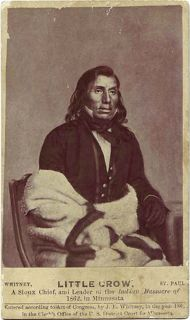CDV Sioux Chief Little Crow Leader in Minnesota Massacre