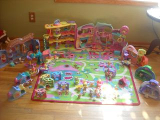 Littlest Pet Shop Fitness Center Town 16 Sets 99 Complete Rug Play Mat