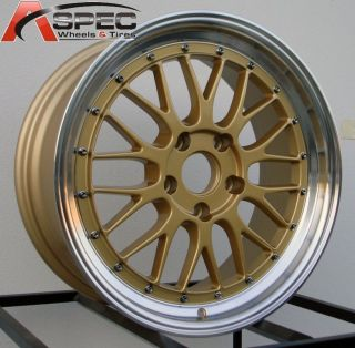 18x8 18x9 LM Style Gold Wheel Fit Mazda RX8 Honda S2000 S2K Lexus