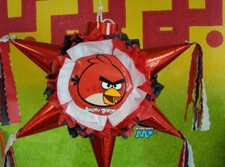 Pinata Angry Birds Red Star Shape Festive Holds Candy Party Favor