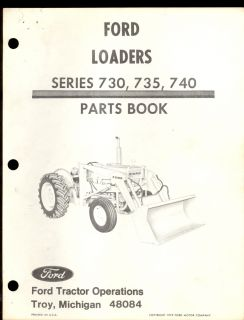 Ford New Holland 730 735 740 Loader Parts Manual