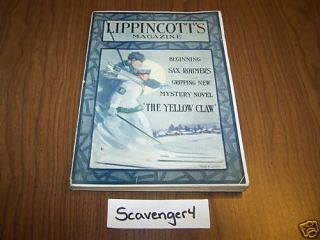 Lippincotts Magazine February 1915 Yellow Claw RARE