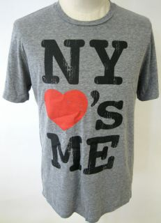 LOCAL CELEBRITY NY LOVES ME MENS TEE SHIRT NEW YORK URBAN CITY ART NEW