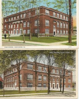 Vintage High School Postcards 1915 Lock Haven PA
