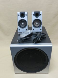 Logitech Z 2300 Powered Computer Speakers 2 plus Subwoofer Black Grey