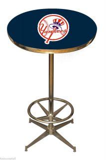Yankees Sports Pub Home Bar Game Room Man Cave Sport Team Table
