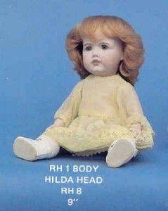 Hilda Robin Hood Doll Head Mold RH 8 Size 9