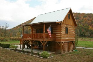 Appalachian Dovetail Log Cabin Kit 18x26 Hemlock Timbers