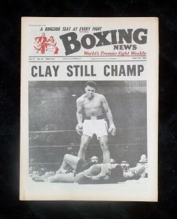 Cassius Clay Sonny Liston II Newspaper Museum Quality. Muhammad Ali