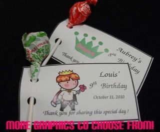 Lollipop Holders Tags Party Favors 1st First Birthday Personalized
