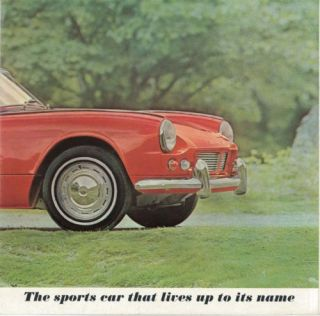 1964 Triumph Spitfire Sales Brochure Literature Book