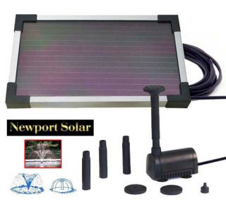 Solar Powered Pond Water Pump 10 Solar Panel 2 Watts