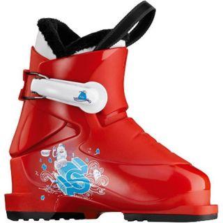 Kids Ski Boots Salomon T1 Mondo 16 US 9 Red White Little Kids Boots
