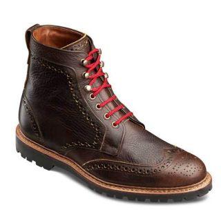 Allen Edmonds Mens Long Branch Dark Brown Grain Leather Boot 6021
