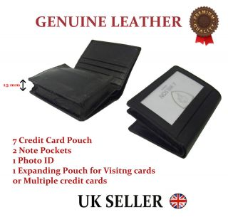 Designer J Wilson Real Genuine Mens High Quality Leather Card ID