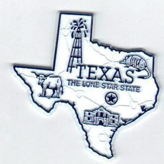 TEXAS THE LONE STAR STATE STATE MAP OUTLINE FRIDGE MAGNET, NEW free