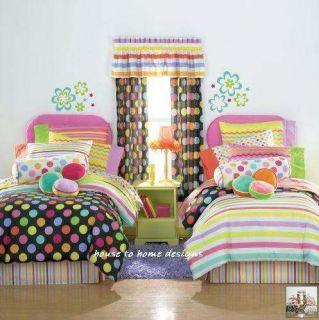 Little Miss Matched Teen Girl Zany Polka Dots Comforter Set Queen
