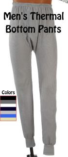 Mens Thermal Pants Bottom Long John Underwear All Colors Sizes