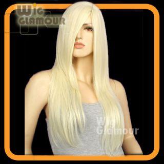 Long 25cm Light Blonde Wavy Bangs Hair Wig LL03