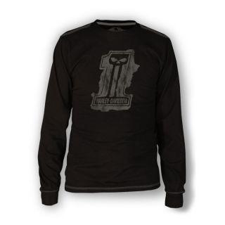 Davidson® Mens Splat Long Sleeve Tee Black Label 1 30291524