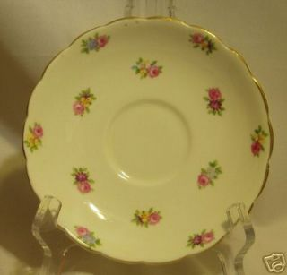 Colclough Bone China Longton England Saucer Shabby Rose