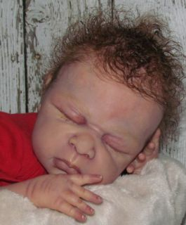 reborn baby boy or girl lorena paulger newborn red head doll art no