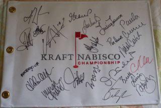 Lorena Ochoa Signed AutoD Kraft Golf Flag Creamer 19