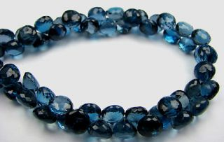 Gem London Blue Topaz Onion Pear Tear Drops Beads