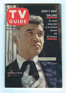 Bonanza Lorne Greene Disney Burr 1961 TV Guide Magazine 424 No Label