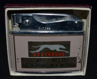Dundee Greyhound Bus Flat Advertising Lighter Lordsburg Cafe