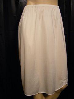 Lorraine White Nylon Lace Half Slip Size Large Waist 30 40 Length 25
