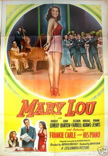 Mary Lou 48 Joan Barton Pin Up Classic Film Poster