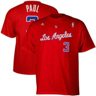 Chris Paul Los Angeles Clippers Adidas Player Red Jersey T Shirt Mens
