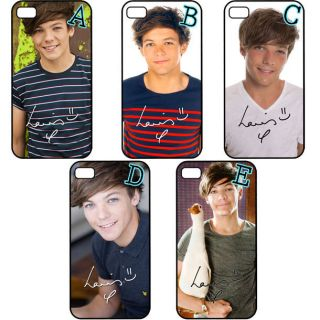 One Direction 1D Louis Tomlinson Autograph iPhone 4 4S Back Hard Case