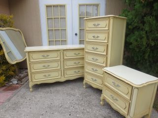 Link French Provincial Bedroom Set Dresser Victorian Country Louis VII