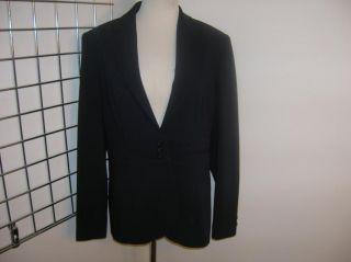 Louben Navy Three Button Blazer Jacket 10 Nice