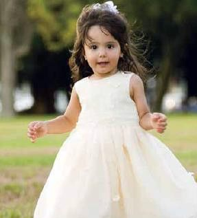 Sarah Louise Toddler White Ceremonial Gown Dress 3T 4T Wedding Pageant