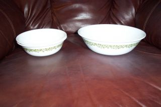 CORELLE SPRING BLOSSOM CRAZY DAISY 1 QT SERVING BOWL & 2 CEREAL BOWLS