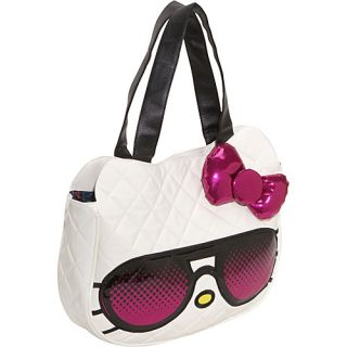 Loungefly Hello Kitty Pink Sunglasses Face Bag White