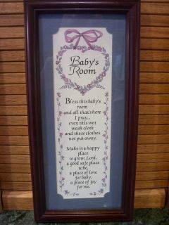 Bless this BABYS ROOM PRAYER Print Plaque for your Home Interior Decor