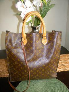 Louis Vuitton x Large Sac Plat Tote Handbag French Company 15 x 15 x 4
