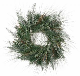 30 Long Needle Pine with Eucalyptus Christmas Wreath