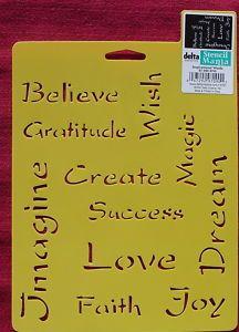 Words Imagine Believe Dream Love Gratitude Faith Joy Wish