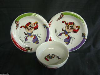 Taz Tasmanian Devil Looney Tunes Bowl Plates Skateboard Rollerblades