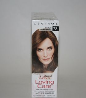 Boxes CLAIROL Loving Care Medium Golden Brown 78 Lo hair color Wow